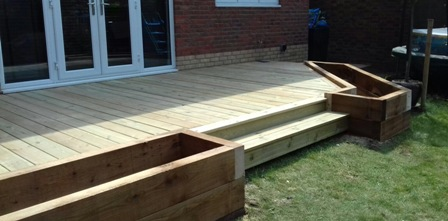 St Albans | decking | built on planters
